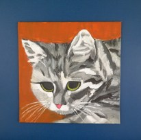 Primitive Cat Painting