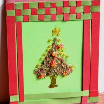 Woven Frame Christmas Tree Card