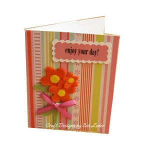 Cheery Orange Flowers Enjoy Your Day —Free Card Making Tutorial