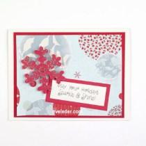 Red Snowflake--Free card making tutorial