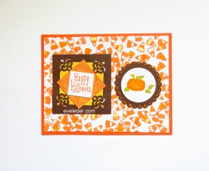 Candy Corn Pumpkin Halloween Card--Free card making tutorial