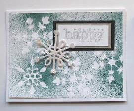 Super Quick Snowflake Card--Free happy holiday card tutorial
