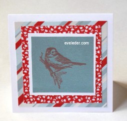 brown sparrow holiday card