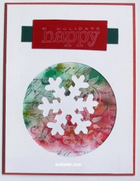 Budget Friendly Snowflake Card