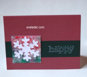 Budget Friendly Snowflake Holiday Card