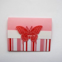 Red Butterfly Valentine -- Free card making tutorial