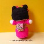 Amigurumi Japanese Maiden--Back View--Free Crochet Pattern