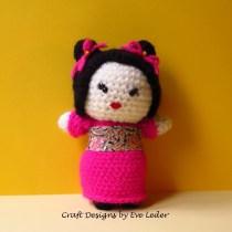 Amigurumi Japanese Maiden--FREE crochet pattern.