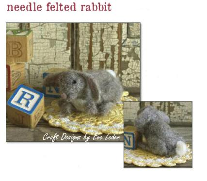 Needle Felted Rabbit — an introduction to the art of needle felting.