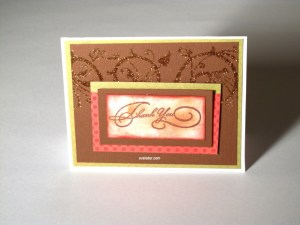 Design adhesive embellished card--Thank you card inspiration