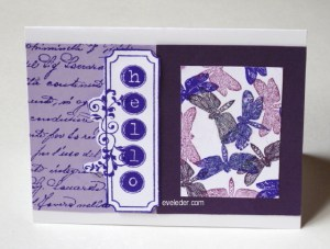 Purple Dragonfly--Free card making tutorial