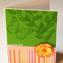 Butterfly Watermark Card