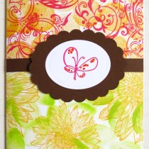 Hand-Stamped Decorative Paper--If you can't find the perfect paper for your butterfly card, then why not create your own.