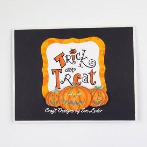 Halloween Card Inspiration --Trick or Treat Jack O Lantern Halloween Card