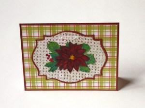 Plaid Poinsettia Card