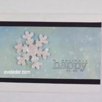Glittering Snowflake Card