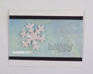 Glittering Snowflake Card