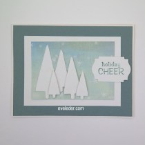 Holiday Cheer Tree Card--free card tutorial