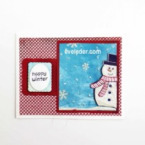Make Snowman Card for your Holiday Card