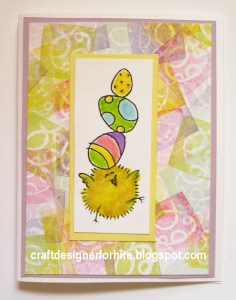 Fuzzy Chick Easter Card--Free card making project