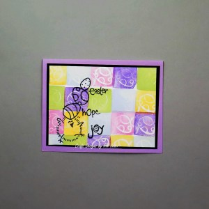 Patchwork Easter Card Tutorial--free tutorial