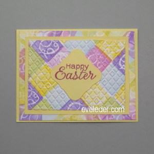 Texture Easter Card--Learn how to add texture to Easter Card project in this free tutorial.