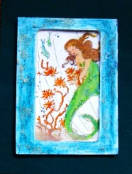 Mermaid Shaker Card--Free card making tutorial