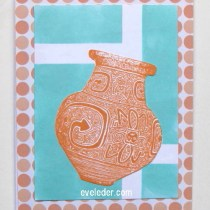 Terracotta Vase Blue Background card is suitable for Father's day and other occasions.
