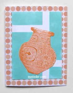 Father's Day Terracotta Vase Blue Background