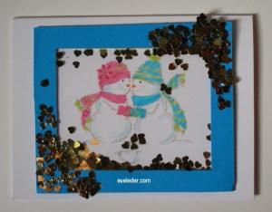 Shaker Card--Snowman