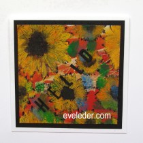 Sunflower Cards--Modern version made with mixed media