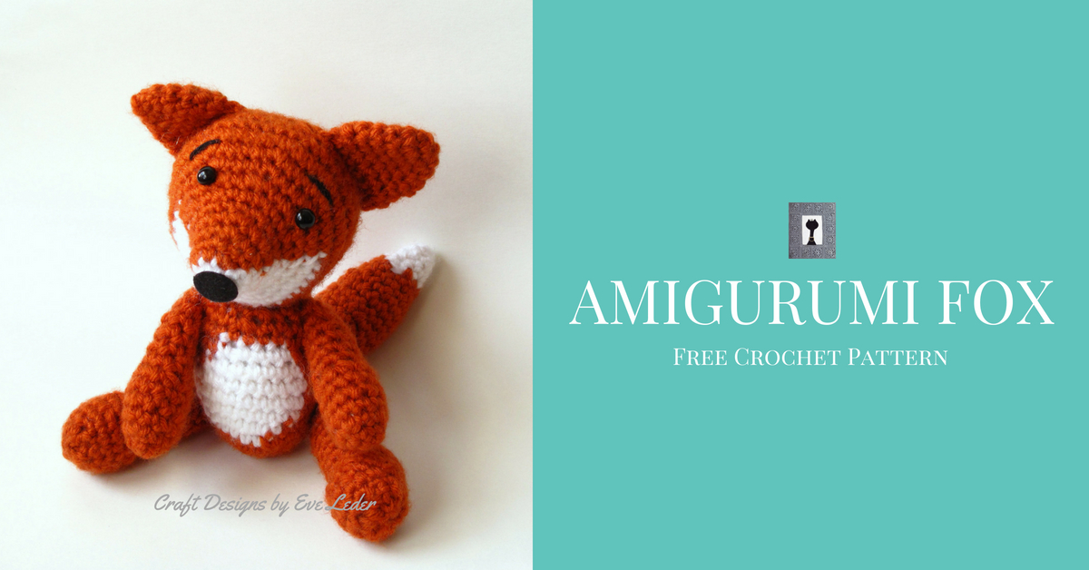 5-Way Jointed Amigurumi Fox - Crochet Pattern by Kristi Tullus ... | 628x1200