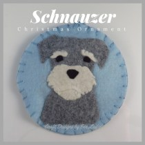 """Schnauzer & Cocker Spaniel Christmas Ornament –These dog ornaments were inspired by the movie """"Lady & the Tramp""""."""