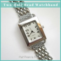 Two-hole Bead Watchband. Free peyote tutorial using 2 types of two-hole beads. Who wouldn't love a gift that combines style and fashion.