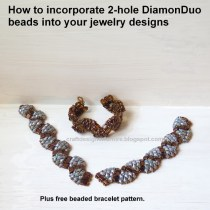 Two-hole DiamonDuo Beads