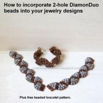 Two-hole DiamonDuo Beads