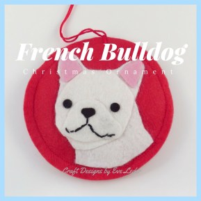 French Bulldog Ornaments are the third breed featured in this dog ornament series. Learn about the design process to create them.