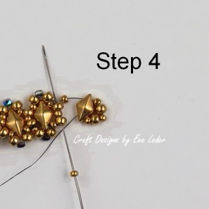 Two-Hole Bead Ring Pattern--Free beading tutorial. (Step 4 )