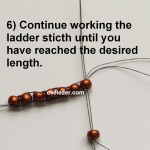 Free Beading Tutorial on the Ladder Stitch--Step 6--Continue working until you have created the desired legnth