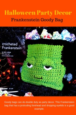 Crochet Frankenstein Goody Bag or Party Decoration