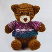 Crochet Teddy Bear Wearing a sweater