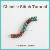 Chenille Stitch — FREE beading tutorial on the chenille stitch and the twisted variation. This step by step tutorial also includes photos.