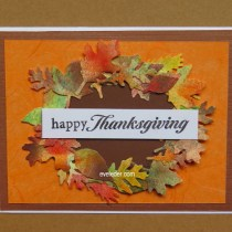 Fall Leaves Wreath Happy Thanksgiving