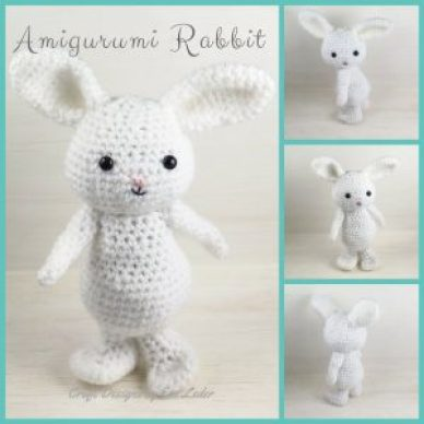 Holiday Crochet Amigurumi Rabbit Pattern — This is a free crochet pattern for this adorable rabbit. Her name is Bella and she would love to join your family.