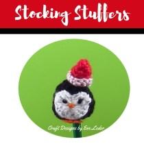 Stocking Stuffers--FREE pattern for crochet penguin.
