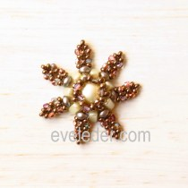 Beaded Snowflake Pattern--Free tutorial