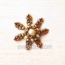 Beaded Snowflake Pattern--Free tutorial