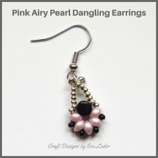 Two Hole Es-O Mini Bead Dangling Earrings—Free beading pattern featuring 2-hole beads