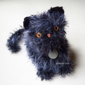 Amigurumi Crochet Kitten--Free crochet pattern for adorable furry kitten.