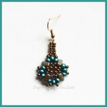 Multi-Hole Beads Earrings Pattern--Free tutorial featuring two-hole beads and three hole beads.